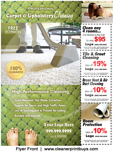 Carpet Cleaning Flyers For Pinterest