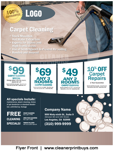 Carpet Cleaning Flyer 8 5 X 11 C0004