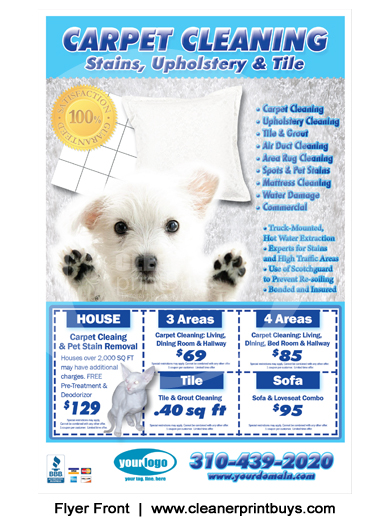 Carpet Cleaning Flyer 8 5 X 5 5 C0005