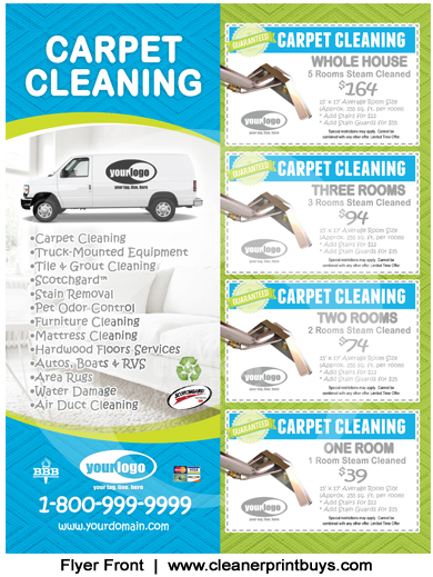 Carpet Cleaning Flyer (8.5 x 11) #C1006