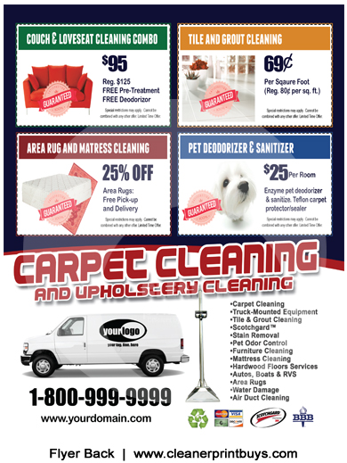 Carpet Cleaning Flyer 8 5 X 11 C1010