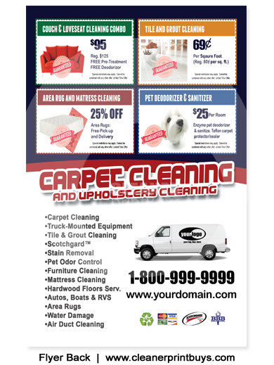 Carpet Cleaning Flyer 8 5 X 5 5 C1010