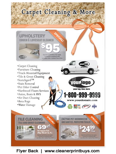 Carpet Cleaning Flyer (8.5 X 5.5) #C1024