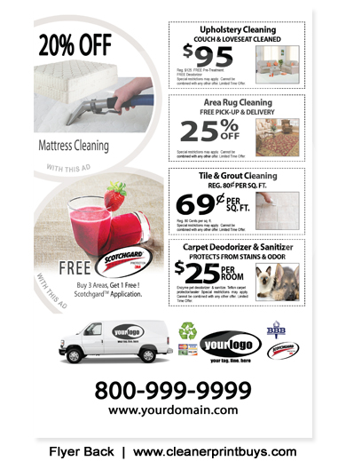 Carpet Cleaning Flyer 8 5 X 5 5 C1075