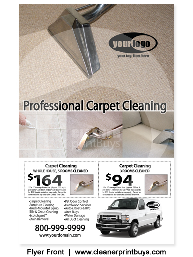 Carpet Cleaning Flyer 8 5 X 5 5 C1076