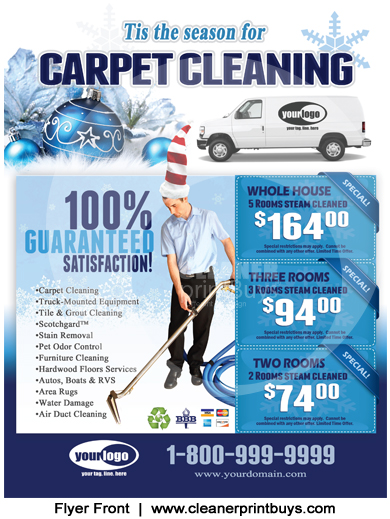 Carpet Cleaning Flyer (8.5 x 11) #C2001