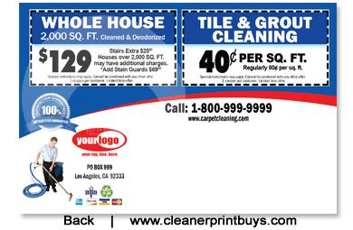 Carpet Cleaning Postcard 4 X 6 C0006 Uv Gloss