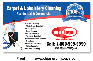 Carpet Cleaning Business Cards C0006 Uv Gloss