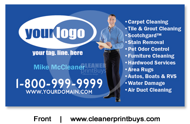Carpet Cleaning Business Cards C0008 Uv Gloss