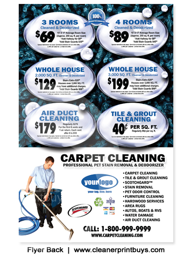 Carpet Cleaning Flyer 8 5 X 5 5 C0007