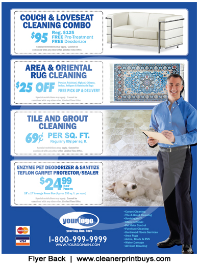 Carpet Cleaning Flyer (8.5 X 11) #C0008