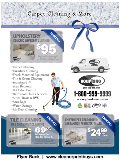 Carpet Cleaning Flyer (8.5 X 11) #C1021