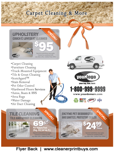 Carpet Cleaning Flyer (8.5 X 11) #C1024
