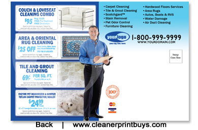 Carpet Cleaning Postcard 4 X 6 C0008 Uv Gloss